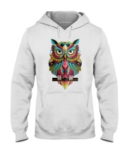 Cute Owl Design Hooded Sweatshirt thumbnail