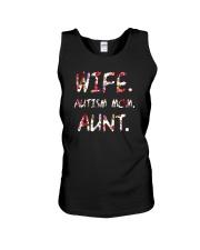 Wife Autism Mom Aunt Unisex Tank thumbnail