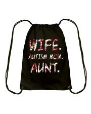 Wife Autism Mom Aunt Drawstring Bag thumbnail