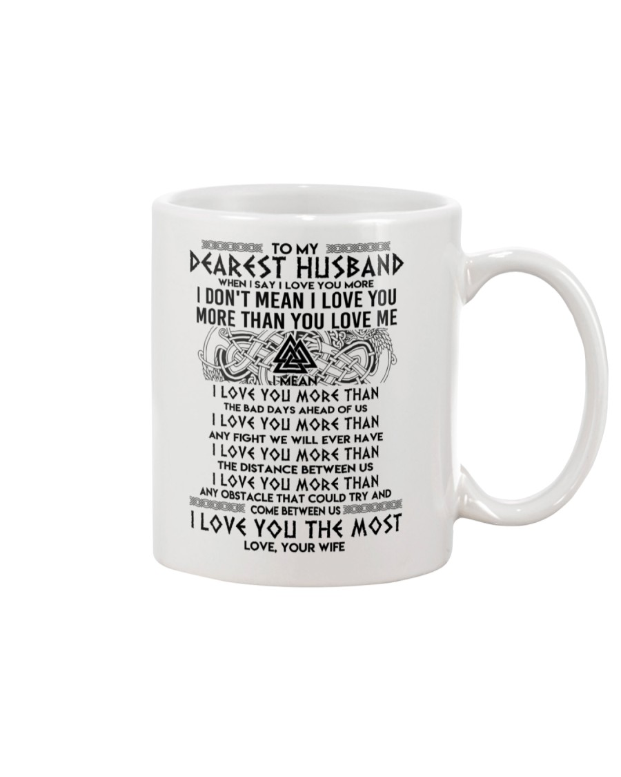 Viking Husband I Love You More Mug