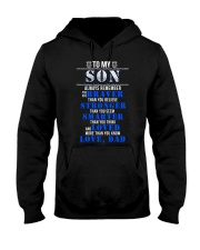 TO MY SON POLICE MUG Hooded Sweatshirt tile