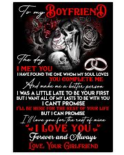 Skull Boyfriend For My Life 24x36 Poster front