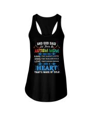 heart made of gold autism mom Ladies Flowy Tank thumbnail