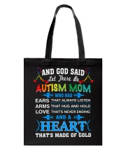 heart made of gold autism mom Tote Bag thumbnail