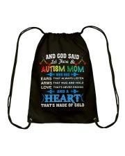 heart made of gold autism mom Drawstring Bag thumbnail