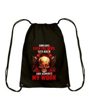 FIREFIGHTER IS MY WORK SHIRT Drawstring Bag thumbnail