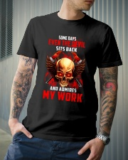 FIREFIGHTER IS MY WORK SHIRT Classic T-Shirt lifestyle-mens-crewneck-front-6