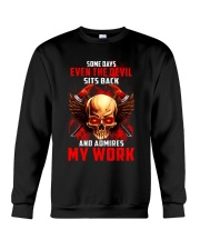 FIREFIGHTER IS MY WORK SHIRT Crewneck Sweatshirt thumbnail