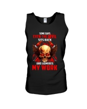 FIREFIGHTER IS MY WORK SHIRT Unisex Tank thumbnail