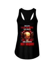 FIREFIGHTER IS MY WORK SHIRT Ladies Flowy Tank thumbnail