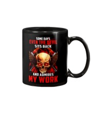 FIREFIGHTER IS MY WORK SHIRT Mug thumbnail