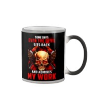 FIREFIGHTER IS MY WORK SHIRT Color Changing Mug thumbnail