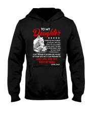 Wolf Daughter Dad Love you for the rest of mine Hooded Sweatshirt thumbnail