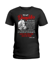 Wolf Daughter Dad Love you for the rest of mine Ladies T-Shirt thumbnail