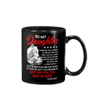 Wolf Daughter Dad Love you for the rest of mine Mug thumbnail