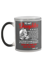 Wolf Daughter Dad Love you for the rest of mine Color Changing Mug color-changing-left