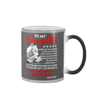Wolf Daughter Dad Love you for the rest of mine Color Changing Mug color-changing-right