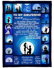 """To My Girlfriend You Are My Always And Forever  Large Fleece Blanket - 60"""" x 80"""" thumbnail"""
