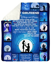 """To My Girlfriend You Are My Always And Forever  Sherpa Fleece Blanket - 50"""" x 60"""" thumbnail"""