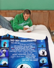 """To My Girlfriend You Are My Always And Forever  Large Sherpa Fleece Blanket - 60"""" x 80"""" aos-sherpa-fleece-blanket-60x80-lifestyle-front-07"""