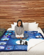 """To My Girlfriend You Are My Always And Forever  Large Sherpa Fleece Blanket - 60"""" x 80"""" aos-sherpa-fleece-blanket-60x80-lifestyle-front-08"""