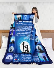 """To My Girlfriend You Are My Always And Forever  Large Sherpa Fleece Blanket - 60"""" x 80"""" aos-sherpa-fleece-blanket-60x80-lifestyle-front-17"""