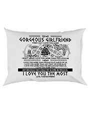 Viking Girlfriend I Love You More Rectangular Pillowcase back