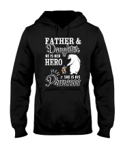 Father And Daughter He her hero she his princess Hooded Sweatshirt tile
