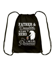 Father And Daughter He her hero she his princess Drawstring Bag thumbnail