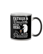 Father And Daughter He her hero she his princess Color Changing Mug tile