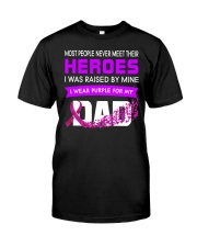 I wear Purple For My Dad Alzheimer awareness Classic T-Shirt front