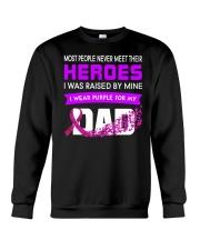 I wear Purple For My Dad Alzheimer awareness Crewneck Sweatshirt thumbnail