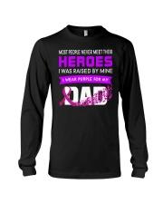 I wear Purple For My Dad Alzheimer awareness Long Sleeve Tee thumbnail