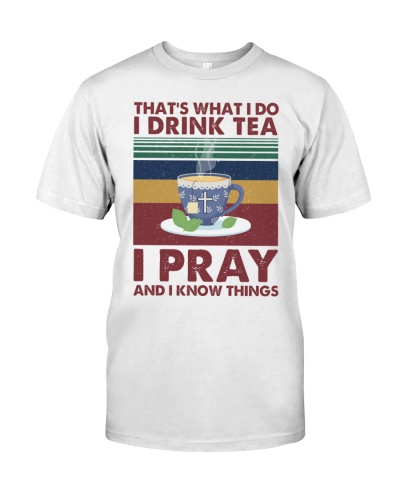 i drink TEA coffee i pray - vintage