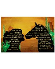Just a girl who loves her horse 17x11 Poster front