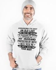 Protected by both Hooded Sweatshirt apparel-hooded-sweatshirt-lifestyle-front-82