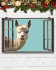 Llama 17x11 Poster aos-poster-landscape-17x11-lifestyle-28