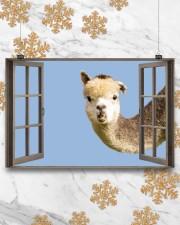Llama 17x11 Poster aos-poster-landscape-17x11-lifestyle-30