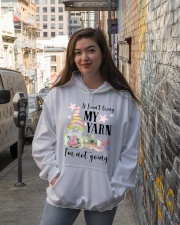 Yarn not going Hooded Sweatshirt lifestyle-unisex-hoodie-front-1
