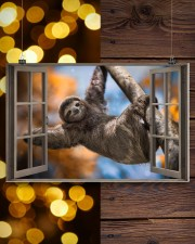 Sloth 17x11 Poster aos-poster-landscape-17x11-lifestyle-29