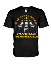 MONEY CAN T BUY HAPPINESS BUT IT CAN BUY PINBALL M V-Neck T-Shirt thumbnail