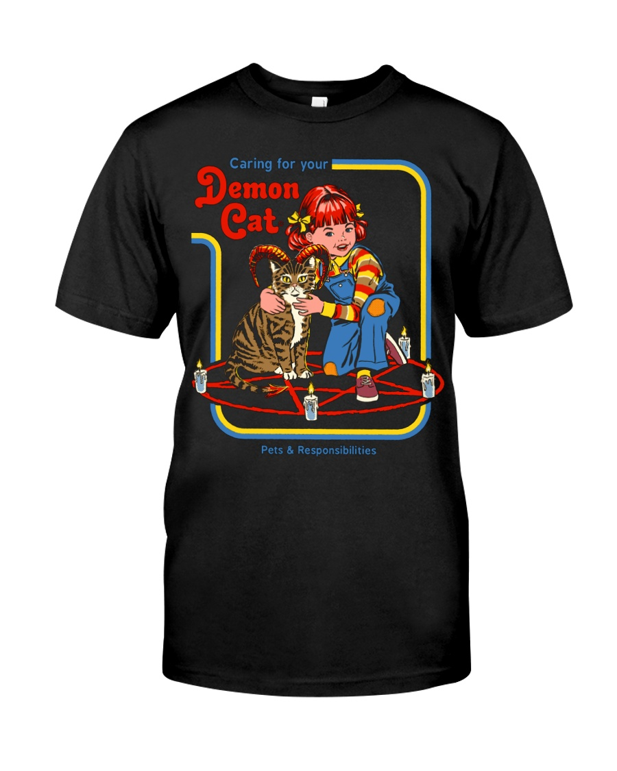 CARING FOR YOUR DEMON CAT 72 Classic T-Shirt