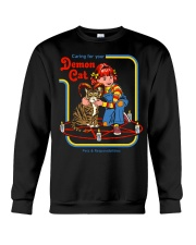 CARING FOR YOUR DEMON CAT 72 Crewneck Sweatshirt thumbnail