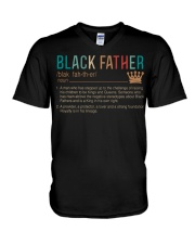 Black Father Noun -  Father Day T-shirt Gifts V-Neck T-Shirt tile