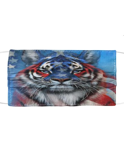 Tiger American Face Mask