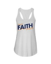 Keeping the Faith - Navy Blue Font Ladies Flowy Tank thumbnail