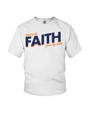 Keeping the Faith - Navy Blue Font Youth T-Shirt thumbnail