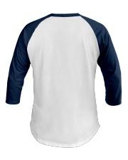 Keeping the Faith - Navy Blue Font Baseball Tee back