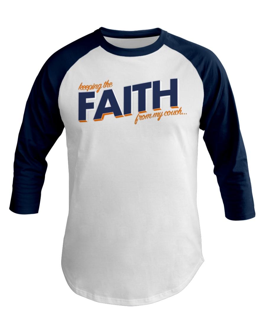 Keeping the Faith - Navy Blue Font Baseball Tee