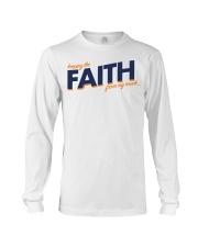 Keeping the Faith - Navy Blue Font Long Sleeve Tee thumbnail